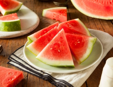 Sliced Watermelon on the table